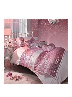 Kylie Minogue Sequin Ter Pink Single Duvet Cover Set