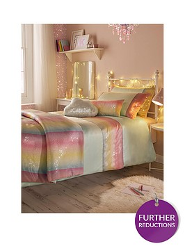 kylie-minogue-rainbow-aqua-sequin-duvet-cover-set