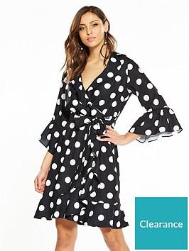 v-by-very-spot-wrap-dress