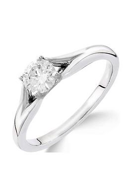 love-diamond-9ct-white-gold-12-carat-diamond-solitaire-with-tapered-shoulders-ring