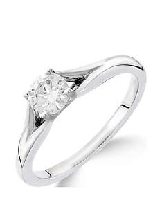 love-diamond-9ct-white-gold-14-carat-diamond-solitaire-with-tapered-shoulders-ring