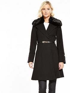 miss-selfridge-faux-fur-trim-belted-coat-blacknbsp