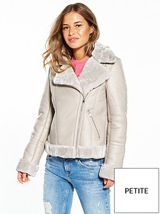 miss-selfridge-petite-shearling-jacket