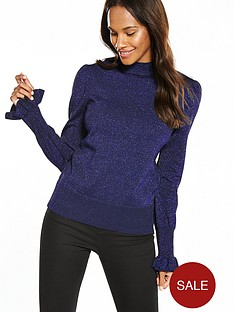 yas-mica-knit-pullover-navy