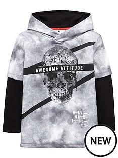 v-by-very-skull-grunge-mock-sleeve-hoodie