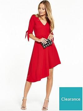 v-by-very-jersey-bow-sleeve-asymmetric-hem-dress