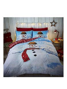 catherine-lansfield-snowman-christmas-duvet-set