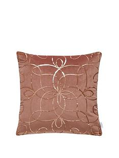michelle-keegan-home-metallic-sequin-embroidered-cushion