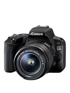 canon-eos-200d-slr-camera-in-black-with-18-55mm-non-is-dc-black-lens-242mp-30lcd-fhd