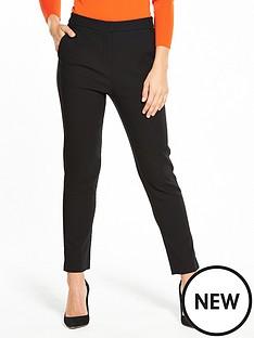 warehouse-textured-slim-leg-trouser-black