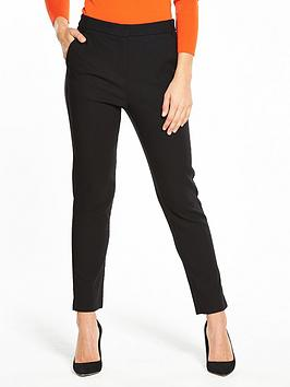 warehouse-textured-slim-leg-trouser-black