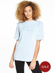 fila-olivia-oversize-velour-logo-t-shirt-bluenbsp