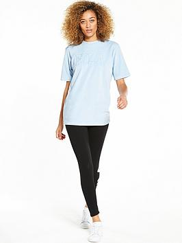 Oversize T Fila  Velour Olivia nbsp Blue Logo Shirt Find Great Cheap Online Clearance Online Cheap Real Safe Payment How Much a1D6Ifq