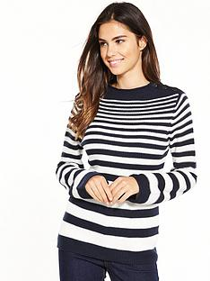 warehouse-graduated-stripe-button-jumper