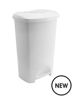 addis-50-litre-pedal-bin-white