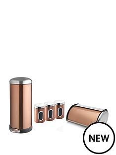 addis-addis-copper-30-litre-retro-metal-bin-amp-storage-set-copper