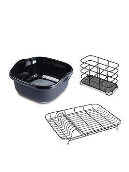 addis-premium-washing-up-3pcs-set-with-wireware-black-grey