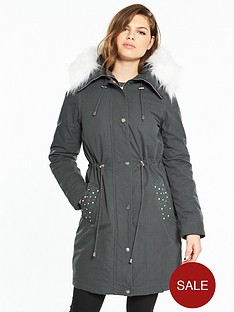 v-by-very-pearl-detail-lux-parka-grey