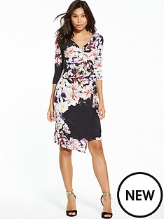 wallis-floral-wrap-dress