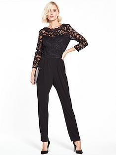 wallis-lace-slash-neck-jumpsuit
