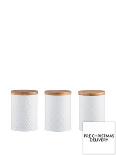 typhoon-living-white-embossed-tea-coffee-and-sugar-storage-canisters