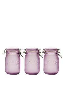 kilner-frosted-clip-top-jars-set-of-3-1l
