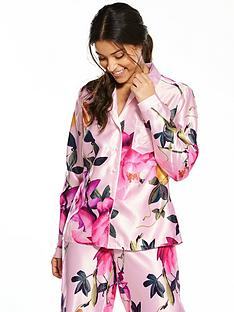 b-by-ted-baker-citrus-bloom-revere-satin-pyjama-top-nude