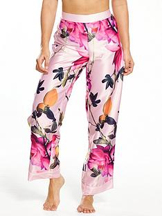 b-by-ted-baker-citrus-bloom-satin-pyjama-bottoms-nude