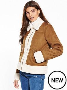 warehouse-suedette-zip-through-jacket