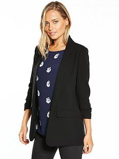 warehouse-ruched-sleeve-jacket