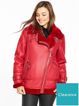 warehouse-oversize-biker-jacket-red