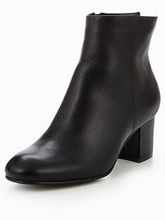 karen-millen-leather-block-heel-chelsea-boot