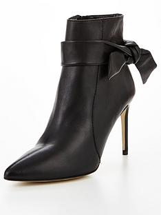 karen-millen-tie-detail-leather-ankle-boots