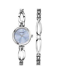 seksy-sekonda-pale-blue-dial-stainless-steel-bracelet-ladies-watch-and-bracelet-gift-set