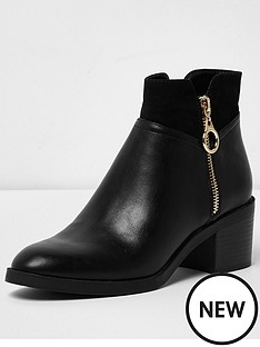 river-island-side-zip-ankle-boot