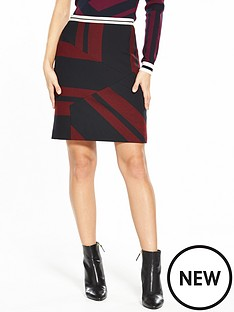 karen-millen-mixed-stripe-skirt