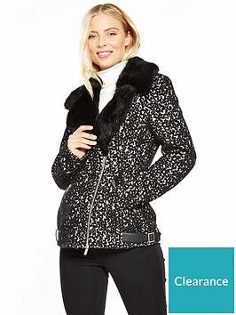 karen-millen-animal-biker-jacket