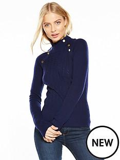 karen-millen-chunky-metal-work-knitted-jumper