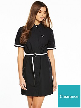 fred-perry-oxford-shirt-dress-black