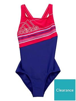 adidas-older-girlsnbspblock-swimsuit-purplepink
