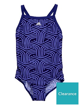adidas-older-girlsnbsppatterned-swimsuit-purple