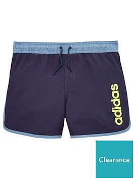 adidas-older-boy-split-hem-swimshort