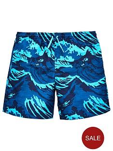 adidas-older-boy-printed-swim-short