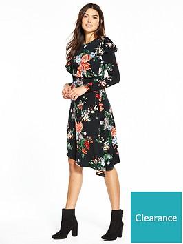v-by-very-asymmetric-long-sleeve-ruffle-dress