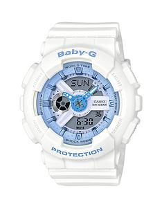 casio-baby-g-casio-baby-g-white-resin-strap-ladies-watch