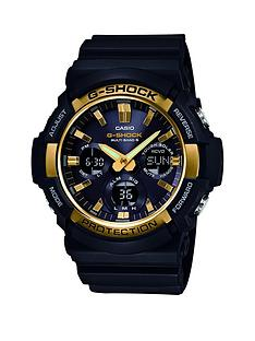 casio-casio-g-shock-black-multi-dial-gold-bezel-resin-strap-mens-watch