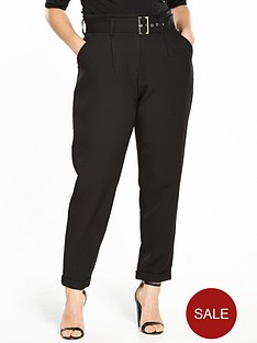 lost-ink-curve-peg-trouser-with-paperbag-waist-black