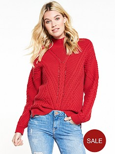 v-by-very-crew-neck-cable-knit-jumper