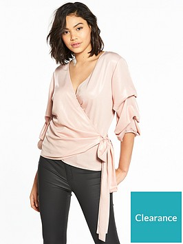 v-by-very-metallic-wrap-top