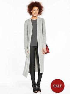 v-by-very-rib-detail-maxi-cardigan-grey
